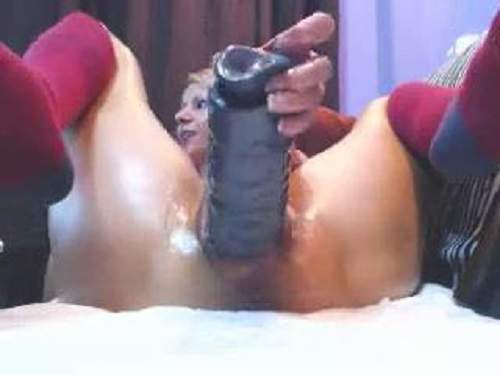 Huge dildo – Russian blonde webcam unbelievable gaping pussy