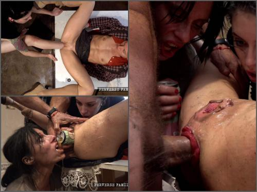 Footsex – Extreme footjob, deep fisting and bottle penetration to prolapse with Perverse Family