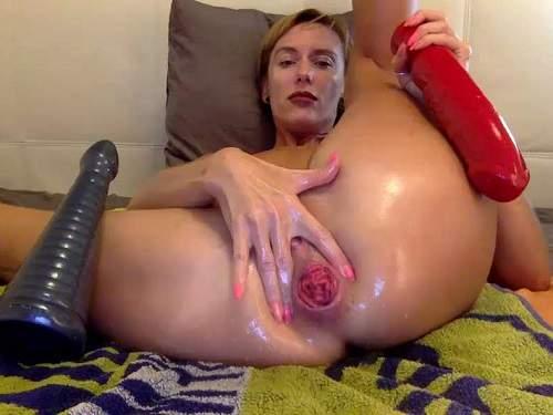 bbmix996 anal rosebutt,rosebutt loose,anal prolapse,girl rosebutt loose,dildo anal,huge dildo anal,dildo ruined big asshole,rosebutt loose closeup