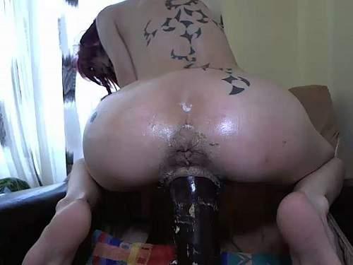 Close up – Abuse camgirl angelsdaniel monster BBC dildo vaginal ride