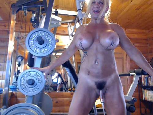 Mature penetration – Muscular milf musclemama4u big clit pump and dildo penetration