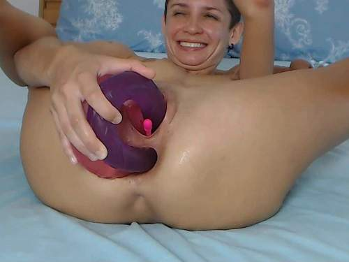Amateur – FoxandFoxy two double side dildos double penetration anal and vaginal