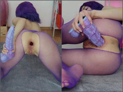 Home vid – Mylene seahorse ass to mouth play @HankeysToys – Premium user Request