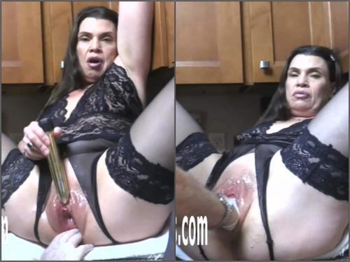 Mature penetration – Amateur horny MILF Hottabbycat enjoy double vaginal fisting from husband