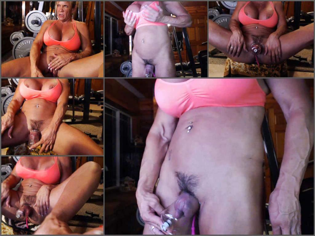 musclemama4u pussypump,musclemama4u vaginal pump,musclemama4u clit pump,hairy pussy pump,muscular mature porn,gym mature porn,big tits milf porn webcam