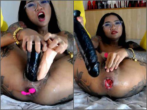 Teen squirting – Webcam tattooed asian pornstar Asianqueen93 anal rosebutt loose with many toys