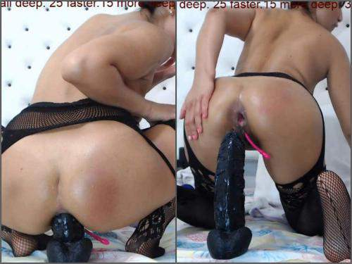 Closeup – Fantastic brunette xxisabelaxxx BBC dildo riding to gaping