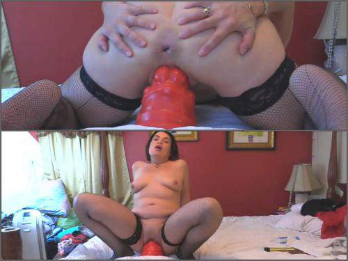 Bad dragon dildo – Amateur mature Hottabbycat pussy prolapse stretching with new bad dragon dildo