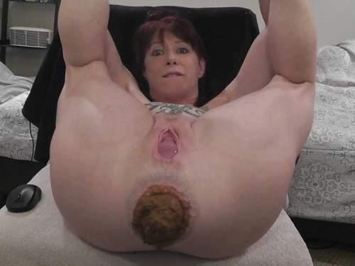 Amateur scat – Amateur amazing scat pornstar loose her shocking prolapse