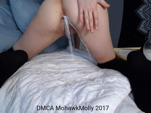 Teen anal gape – Cute camgirl milk enema porn webcam closeup