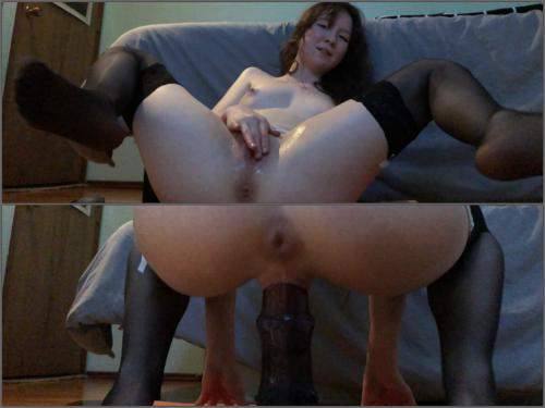 Teen anal gape – BadDragonSlayer my pussy takes horsecock deep and fast – Premium user Request