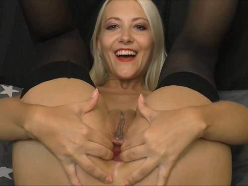 Cucumber anal – Webcam blonde Helena Moeller cucumber self penetration in anal gape