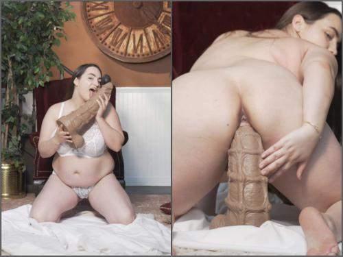 Colossal dildo – Jeri Lynn stretching with XXXL sea horse – Premium user Request