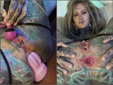Rosebutt loose - Anuskatzz XL taintacle dildo anal play solo female webcam