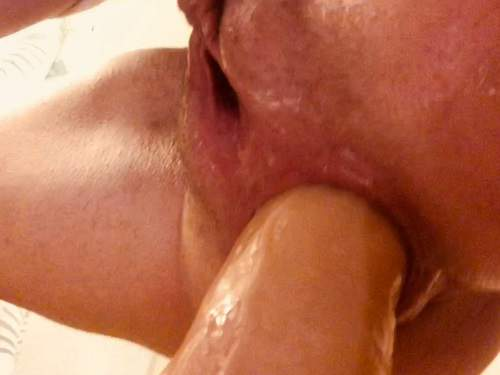 Dildo anal – AnalOnlyJessa squirting from big dildo in my loose ass – Premium user Request