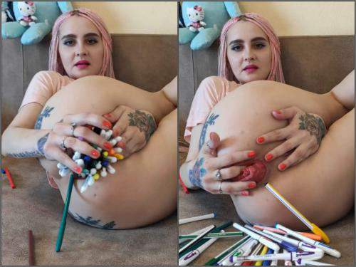 Anal stretching – Forest Whore penetration many pencils and ruined prolapse – Premium user Request