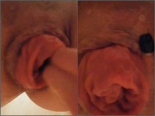 Fingering – Girl closeup POV fingering her big sweet anal prolapse