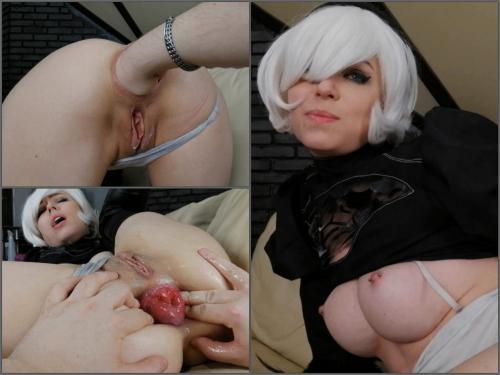 Prolapse porn – Dismoralica extreme anal fist of 2B greedy ass hole – Premium user Request