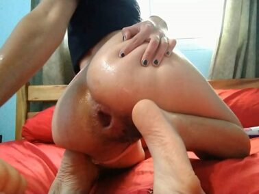Anal fisting - Pipaypipo deep anal fisting and monster dildo rough rides to gaping