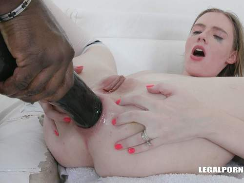 Huge dildo – Rebel Rhyder many black cock and BBC dildo anal very deep
