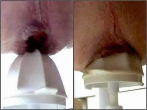 Gape ass – Rare amateur xxx – male driller gaping hole with juicer
