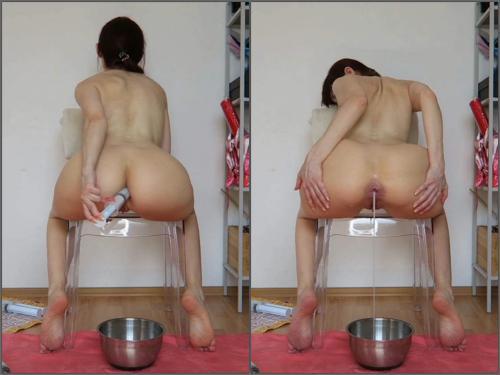 Anal creampie – Full HD webcam Cum bucket. Lube enemas, creampies, fart – Premium user Request