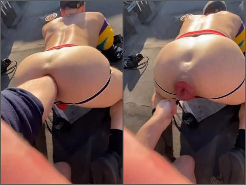 Gay rosebutt – Brutal gays outdoor anal fisting and falls prolapse in doggy pose