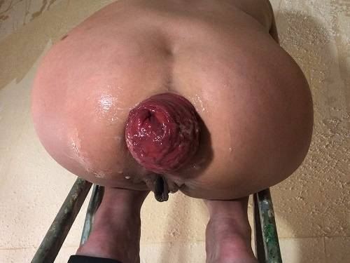Anal stretching – Is back! Maria Hella prolapse on the stepladder – Premium user Request