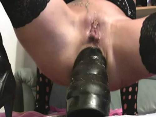 Dildo anal – Incredible wife colossal ass rosebutt destroy