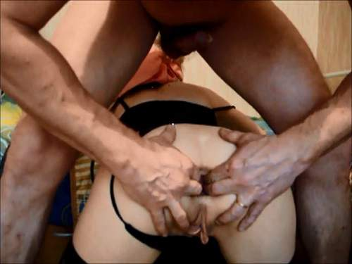Anal insertion – Extreme russian amateur stretches gape anus mature