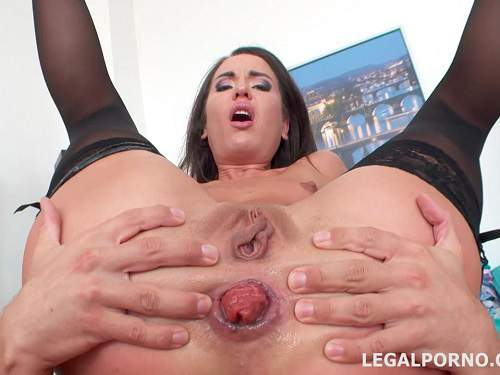 Closeup – Creampie in sweet anal prolapse Nataly Gold