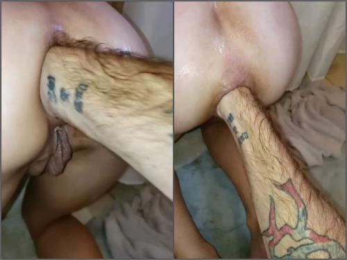 Closeup – Amateur POV fisting sex anal hardcore in doggy style pose with Tawney mae