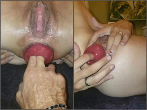 Anal insertion – Sexy large labia pornstar tawney mae pump her anal prolapse