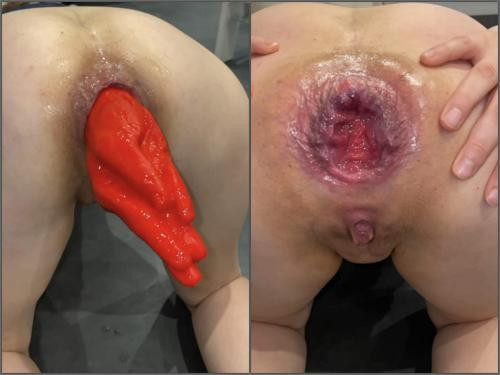 Gaping anal – M687pro Big Hand Dildo hidden in my asshole – Premium user Request