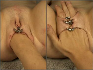 Piercing labia - Sweet_2002 with sexy piercing labia enjoy hard fisting sex POV amateur