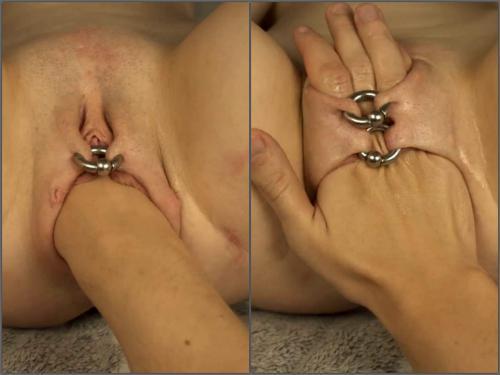 Piercing labia – Sweet_2002 with sexy piercing labia enjoy hard fisting sex POV amateur