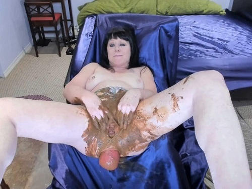 Bad dragon dildo – Perverted tattooed scat MILF penetration shocking bosshog dildo in prolapse anal
