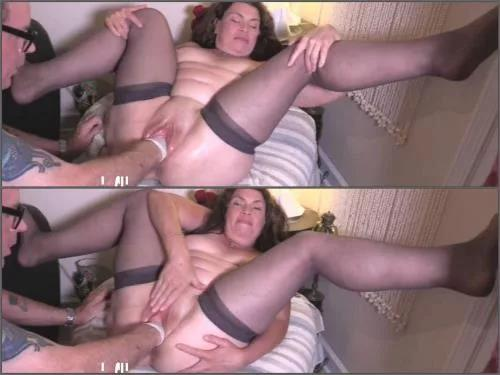 Couple fisting – Fatty MILF Hottabbycat show vaginal prolapse after forced fisting