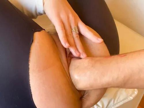 Big Ass – Booty April Bigass with torn panty gets fisted POV homemade