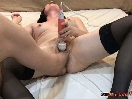 Deep fisting – Hairy pussy skinny wife Love Banaxy gets fisted from her husband