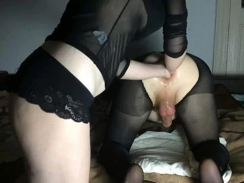 Anal fisting – Russian mary_style double anal fisting female domination with handjob